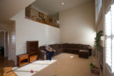 "(Arvada, Colorado, April 8, 2008) Family room.  ""Before"" images for house-staging at..."