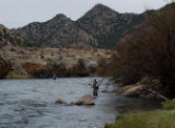 The Arkansas River flowed clear and moderate Sunday, with blizzard hatches of caddis between...