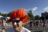 [Boulder, CO - Shot on: 5/31/04] Jeff Giffin, of Boulder, Colo.,  lets his Orange hair flow in the...