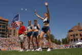 [Boulder, CO - Shot on: 5/31/04] Women's team USA (from left) Nikole Johns, Nicole Hunt, and Katie...
