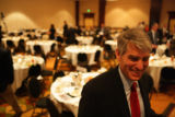 Senatorial Candidate Mark Udall (cq) after speaking at the South East Business Partnership's...