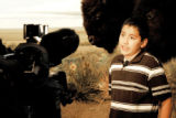 Fifth-grader Horacio Durante Bernal gets interviewed about his idea to nominate the western...