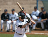 Jeff Hom takes a time at bat during a game ,April 25, 2008, at Jackson Field, Greeley. The Bears...