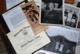 DENVER (May 8, 2008) Scrapbook items of World War II Veteran Omilio Halder Jensen detail her...