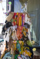 Colorful scarves are on display outside of Babareeba Then & Now on 32nd street in Highland...
