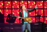 (NYT24) NEW YORK -- Oct. 1, 2005 -- MCCARTNEY-MUSIC-REVIEW -- Paul McCartney performed Friday,...