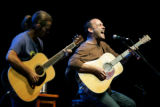 Dave Matthews plays with Tim Reynolds during Green Sunday at Red Rocks in Morrison on Sunday,...