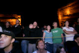 Concert goers watch Robert Kennedy, Jr. speak during Green Sunday at Red Rocks in Morrison on...