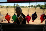 (103)  Doug Grimes of Albuquerque based Discover Balloons prepares to close down his shop of...