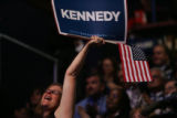 New York delegate Diana Cihak  cheers and cries  during the Kennedy presentation at 2008...