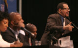 54419 Dr. Michael Eric Dyson, professor at Georgetown University, address more than 150 young...