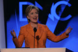 JPMX2195  Remarks and activity from the podium of the Democratic National Convention in Denver on...
