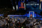 JPMX2200  Remarks and activity from the podium of the Democratic National Convention in Denver on...