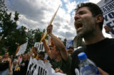 A group of protestors, who demanded an investigation on the events that transpired on 9-11,...
