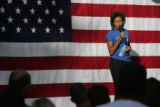 (PG0549) Michelle Obama launches a delegate service day at Curtis Park on Wednesday, August 27,...