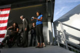 (PG0080) Michelle Obama launches a delegate service day at Curtis Park on Wednesday, August 27,...