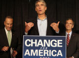 54452 U.S. Senate candidate, Mark Udall, talks about his up coming senator race during a...