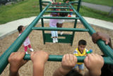 (014) Early Childhood Education students play on the playground  August 26, 2008, on the Greenlee...