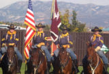 The Fort Carson Mounted Color Guard attended the farewell ceremony for the 10th Combat Support...