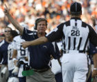 JOE1031 San Diego Chargers coach Norv Turner reacts to officials ruling  on Sunday afternoon,...
