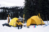 Winter Camping. Moberly pass in British Columbia, outside of Golden, BC. Ski traverse to Fairy...