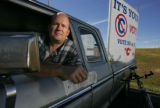 Paul Bailey (cq)of Boulder sits in his truck in the Broomfield Park and Ride on October 13, 2005,...