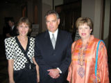 Institute of International Education chief operating officer Tina Ravitz, left, joins Donald...