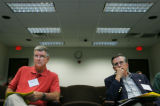 Colorado state representatives Bill Crane (cq), (R-Arvada), left, and David Schultheis (cq),...