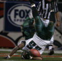 JPM0544   Philadelphia Eagles running back Brian Westbrook tumbles into the end zone for a...