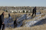 Aurora Police conduct a search for  a six-year old girl, Aarone Thompson, Tuesday, November 15,...