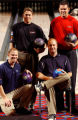 PBA Bowling finalists Tommy Jones (left), Chris Barnes, Mike Wolfe, and Wes Malott, taken during...