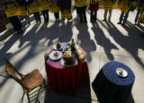 Protestors gather at U.S. Congressman Bob Beauprez's office in Wheatridge on November 16, 2005,...
