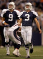 RG494 Dallas Cowboys' field goal kicker, #3, Billy Cundiff, right, watches as his 4th quarter...