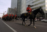 The  Royal Canadian Mounted Police parade down 17th St. Thursday, November 10, 2005 as part of the...