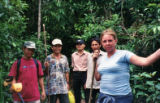 Stacey Stegman in the foreground with guides who led her to the site of her fathers helicopter...