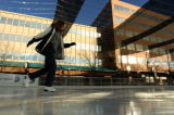 Sarah Frazier(cq), of Morey Middle School, does some             ice-skating Tuesday afternoon...