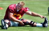 085575.SP.0804.usc5.ls------Freshman Jeff Byers at practice at USC football  field on August...