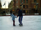 Boulder, CO-- The Ice Rink at One Boulder Plaza