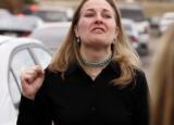 Vanessa Yaklich (cq), 31, of Pueblo, Colo., speaks to the media after a hearing held Thursday...