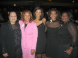 Pink Tie Affair 2005. From left, Sherry Jackson, Victoria Scott-Haynes, Heather Barry, Deborah...