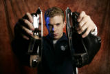 Portrait of Timothy Goebel (cq), a figure skater for the Winter Olympics, at the 2006 U.S. Olympic...