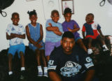 Aaron Thompson, front, with Lynette Thompson's 4 kids, and Lynette and Aaron Thompson's son, Aaron...