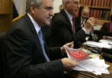 Governor Bill Ritter delivered a briefing to the media Thursday, December 20, 2007, on his plan...
