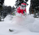 Santa got back out on the hill and we got a couple of great action shots.   Pics by Jan Moller.  ...