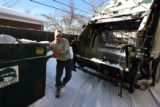 John Griffith (cq), CEO of Alpine Waste and  Recycling, loads trash in SE Denver Wednesday...