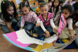 Doull Elementary School ECE students L-R- America Marban, Jackeline Rolden, Briza Palacios, and...