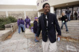 Allen Webb, grandson of former Denver Mayor, Wellington Webb, the Kansas State fieldhouse after...