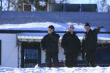 DM0032   Police outside 4708 W. 11th Ave. in Denver, Colo. where a young girl and a woman were...