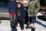 DM0547   Martin Vasquez, 11, center, said he was in the house with 11-year-old Angelica Martinez...