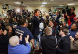 Democratic Presidential candidate John Edwards meets with volunteers at the United Steelworkers...